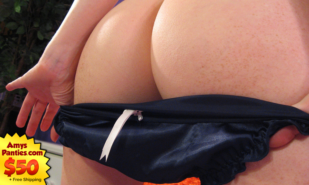 Amy's Panties - Midnight Black Satin Panties